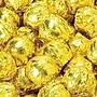Birnn Milk Chocolate Truffles, Gold Foil, 1 lb.
