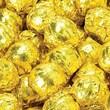 Birnn Milk Chocolate Truffles, Gold Foil, 1 lb. Bulk