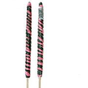 Black and Hot Pink Twister Lollipops, 3 oz., 12 Lollipops/Box