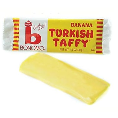 Bonomo Taffy Banana, 1.5 oz. Bars, 24 Bars/Box