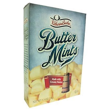 Katharine Beecher Yellow Butter Mints, 5.5 oz. Box, 3 Boxes