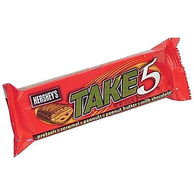 Hershey's TAKE 5 Bar, 1.55 oz. Bars, 24 Bars/Box