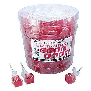 Cinnamon Cube Pops, .8 oz., 100 Lollipops/Tub