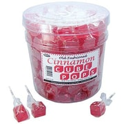Cinnamon Cube Pops, .8 oz., 100 Lollipops/Tub