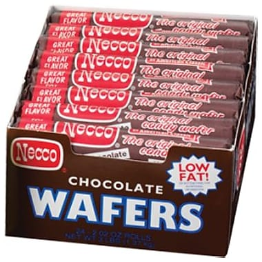 Necco Wafer Rolls, 2.02 oz. Rolls, 24 Rolls/Box