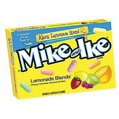 Mike & Ike Lemonade, 3.6 oz. Theater Box, 12 Boxes