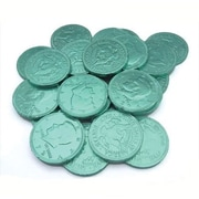 Fort Knox Milk Chocolate Coins, Green Foil, 1 lb. Bulk