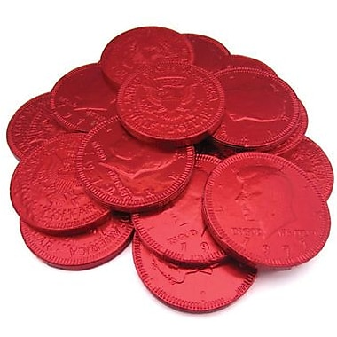 Fort Knox Milk Chocolate Coins, Red Foil, 1 lb. Bulk