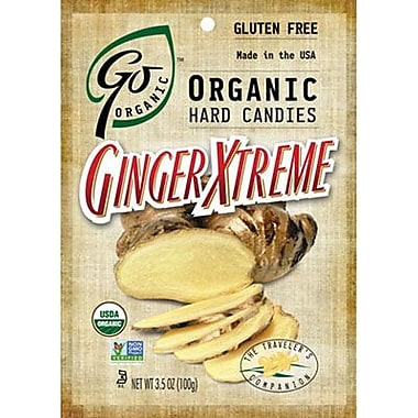 Go Naturally Organic Hard Candy Xtreme Ginger, 3.5 oz. Bag, 6 Bags/Box
