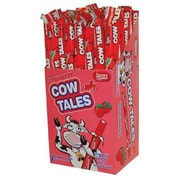 Strawberry Cow Tales Wrapped, 1 oz. sticks, 36 Cow Tales/Box