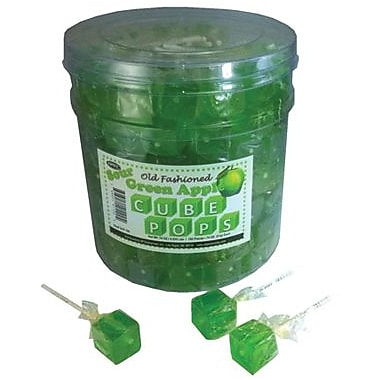 Cube Pops, 0.8 oz., 100 Lollipops/Tub