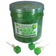 Green Apple Cube Pops, .8 oz., 100 Lollipops/Tub