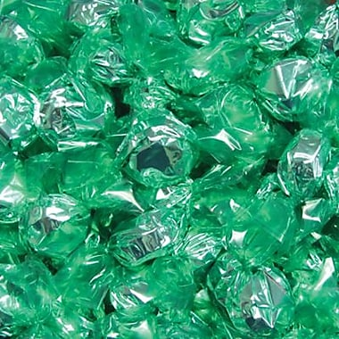 Green Wrapped Lime Hard Candies, 5 lb. Bulk