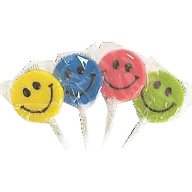 Teeny Happy Face Pops, .44 oz., 48 Lollipops/Box