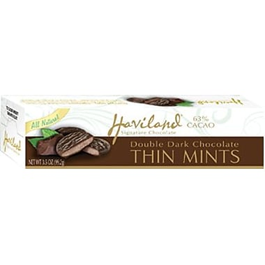 Haviland All Natural Double Chocolate Thin Mints, 3.5 oz. Box, 12 Boxes