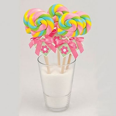 Bubble Gum Swirl Lollipop, 1 oz., 24 Lollipops/Box