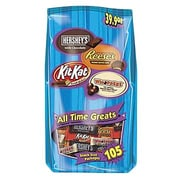 Hershey's All Time Greats Snack Size Assortment (105 pieces), 38.9 oz.