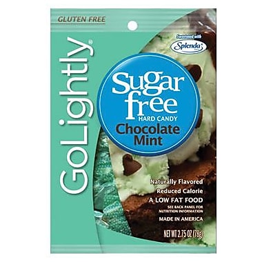 GoLightly Chocolate Mint Hard Candy, 2.75 oz. Peg Bag, 12 Peg Bags/Box