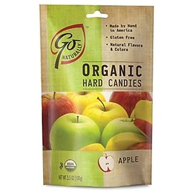 GoNaturally Organic Hard Candy Apple, 3.5 oz. Bag, 6 Bags/Box
