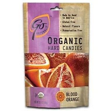 GoNaturally Organic Hard Candy Blood Orange, 3.5 oz. Bag, 6 Bags/Box