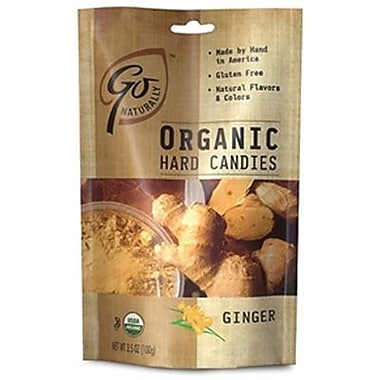 GoNaturally Organic Hard Candy Ginger, 3.5 oz. Bag, 6 Bags/Box