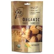 GoNaturally Organic Hard Candy Ginger, 3.5 oz. Bag, 6 Bags/Box