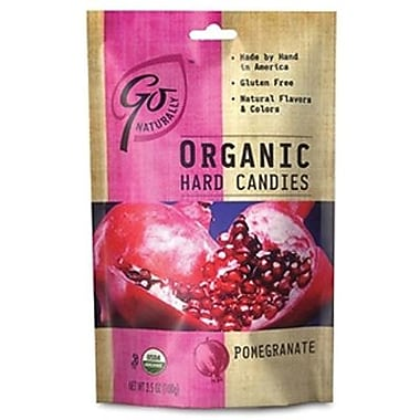 GoNaturally Organic Hard Candy Pomegranate 3.5 oz. bag: 6ct
