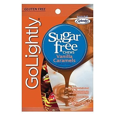 GoLightly Vanilla Hard Candy, 2.75 oz. Peg Bag, 12 Peg Bags/Box
