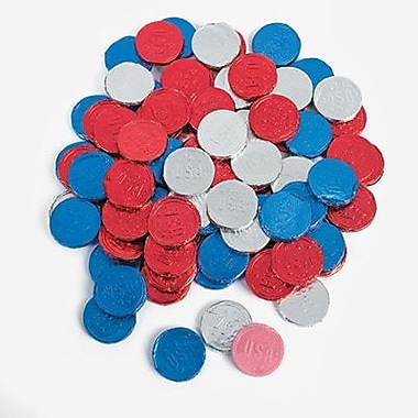 Patriotic Bubble Gum Coins, 100 Pieces/Box