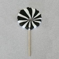 Black and White Pinwheel Pops, 2.5 oz., 12 Lollipops/Box