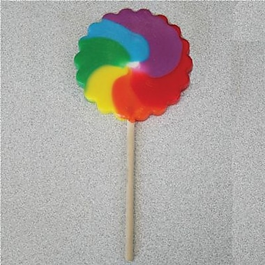Primary Pinwheel Pops, 2.5 oz., 12 Lollipops/Box