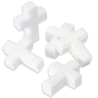 White Candy Crosses, 5 lb. Bulk