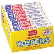 Necco Assorted Original Wafer Rolls, 2.02 oz. Rolls, 24 Rolls/Box