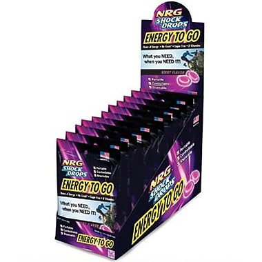 NRG Shock Drops, 1.13 oz. Pouch, 12 Pouches/Box