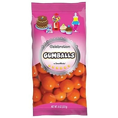Orange Gumballs, 8 oz. Bag