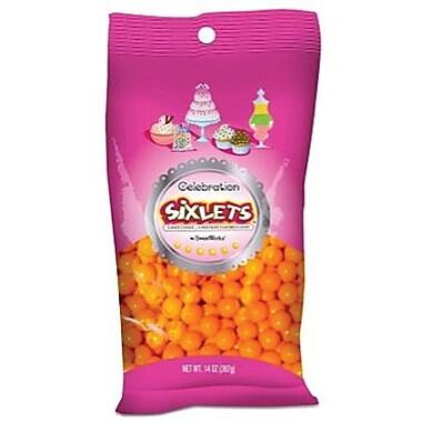 Sixlets Orange, 14 oz. Bag