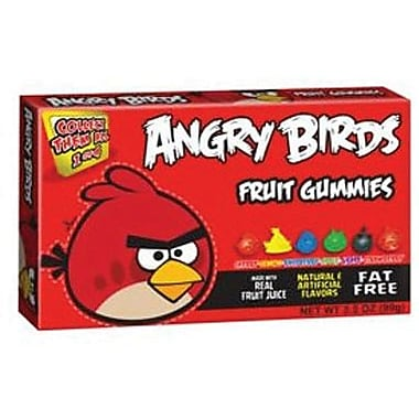 Angry Birds Gummy Candy, 3.5 oz. Theater Box, 12 Boxes
