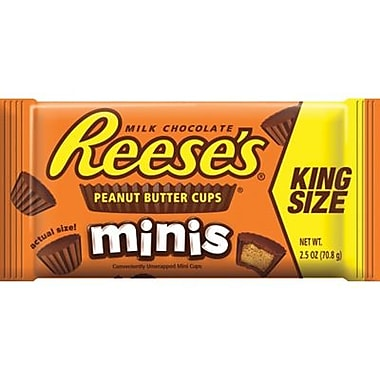 Reese's Peanut Butter Cup Minis, 2.5 oz. King Size Packs, 16 Packs/Box