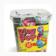 Candy Ring Pops, 40 Pieces/Tub