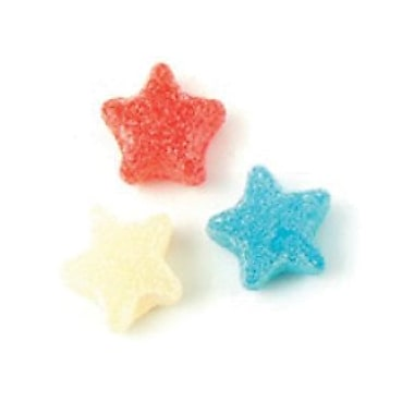 Sour Stars Red/White/Blue, 5 lb. Bulk