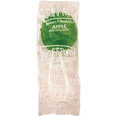 Saf-T-Pops Green Apple, 60 Pieces/Tub