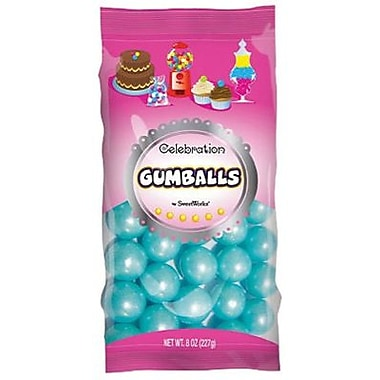 Shimmer Powder Blue Gumballs, 8 oz. Bag