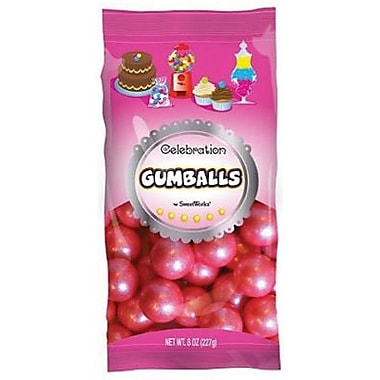 Shimmer Bright Pink Gumballs, 8 oz. Bag