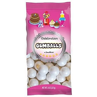 Shimmer White Gumballs, 8 oz. Bag