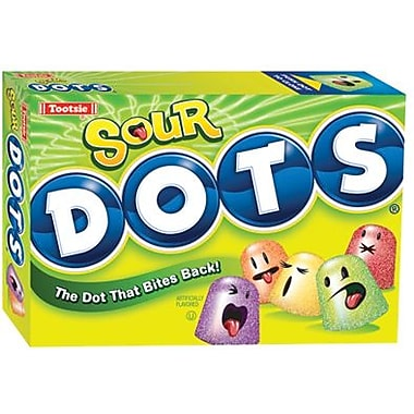Tootsie Sour Dots, 7.5 oz. Theater Box, 12 Boxes