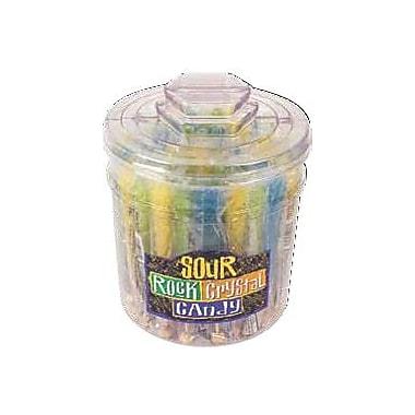 Assorted Sour Rock Candy Sticks, 48 Sticks/Tub