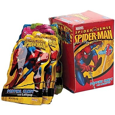 Spiderman Spidersense Lollipop and Popping Candy, 12 Pouches/Box