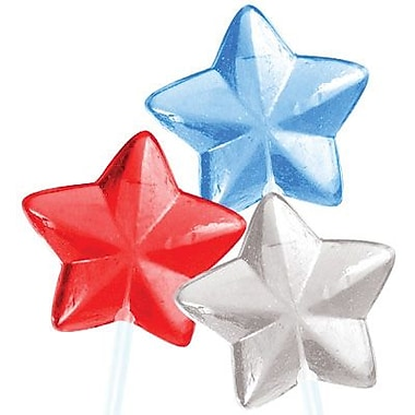 Patriotic Stars Lollipops, 30 Pieces/Box