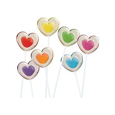 Twinkle 2-Tone Heart Pops, 30 Pieces/Box
