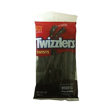 Twizzlers Chocolate Flavored, 7 oz. Peg Bag, 12 Bags/Box